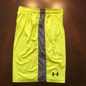 Under Armour Small Neon Yellow Gym Short